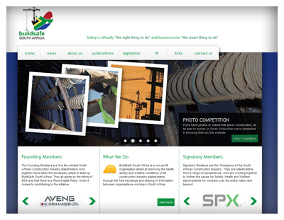 BuildSafe South Africa Website