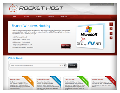 RocketHost Website